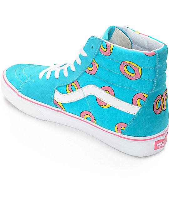 5aab6175ac9d ... Vans Odd Future Sk8-Hi Scuba Blue Donut Shoe ...
