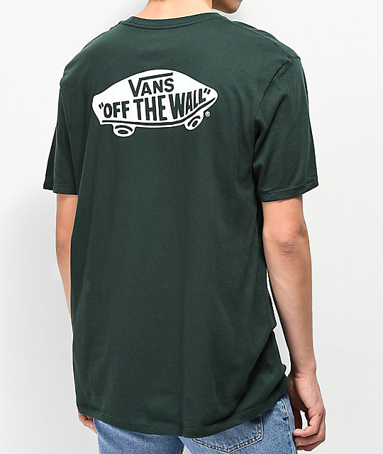 fde822c21d Vans Off The Wall Classic Green   White T-Shirt