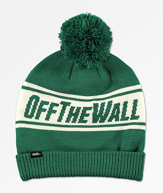 c9a0150e121 Vans Off The Wall Evergreen   White Pom Beanie