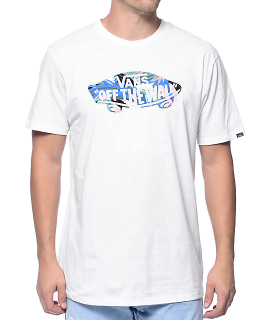 0dd6d5c9c7 Vans Off The Wall Logo Floral Fill White T-Shirt