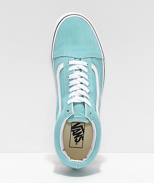 Vans Old Skool Aqua Haze & White Skate Shoes