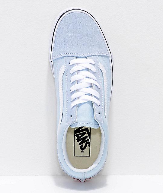 ... Vans Old Skool Baby Blue   True White Shoes ... 345130de4