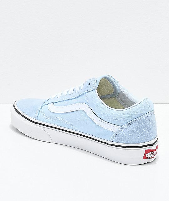 b5fb729fd27 ... Vans Old Skool Baby Blue   True White Shoes ...