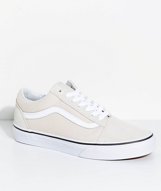 a1848b17 Vans Old Skool Birch & True White Skate Shoes