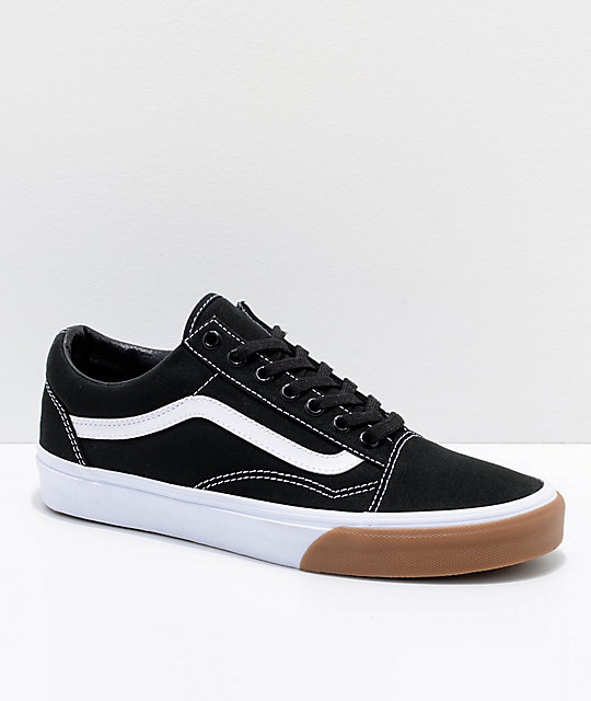 Vans Old Skool Black & Gum Bump Skate Shoes