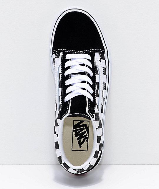 c3f4b9748f02fc ... Vans Old Skool Black   White Checkered Platform Shoes ...