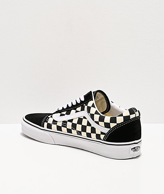 1e1052ec37daff ... Vans Old Skool Black   White Checkered Skate Shoes ...