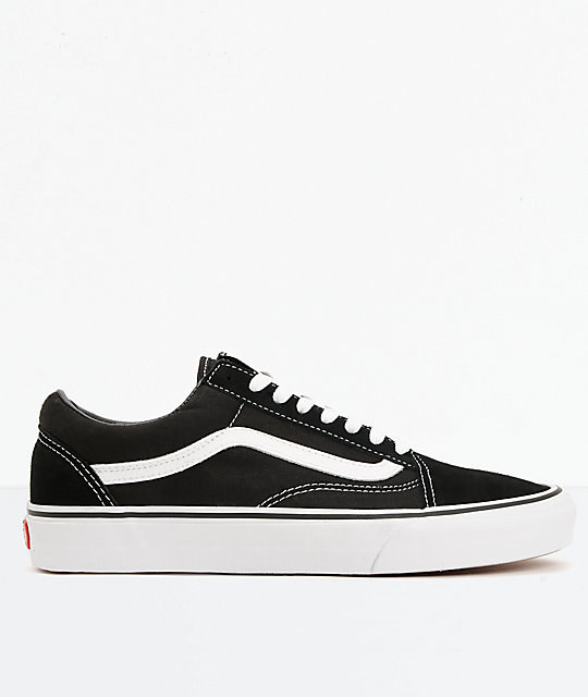 7046fc3e23d0 ... Vans Old Skool Black   White Skate Shoes ...