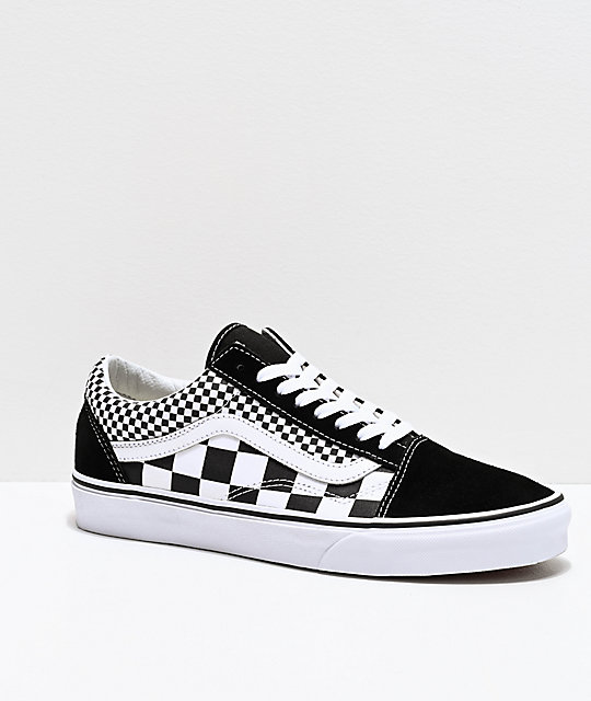 vans old skool mix checker