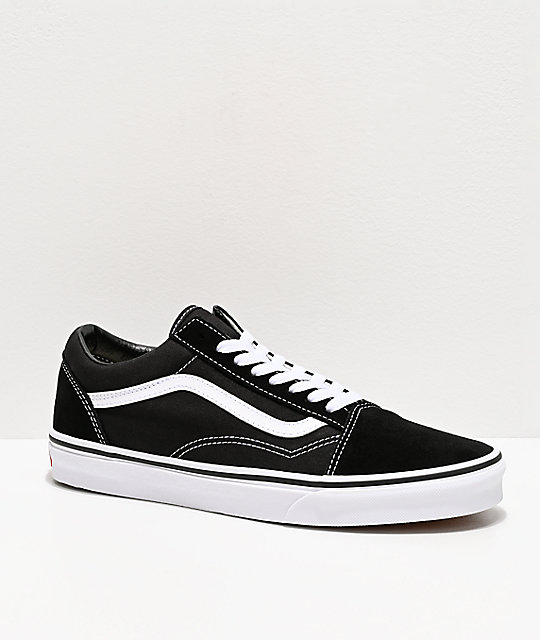 Vans Old Skool Black & White Skate Shoes ...