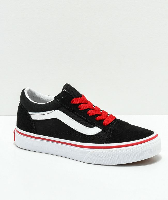 black vans red laces Limit discounts 64