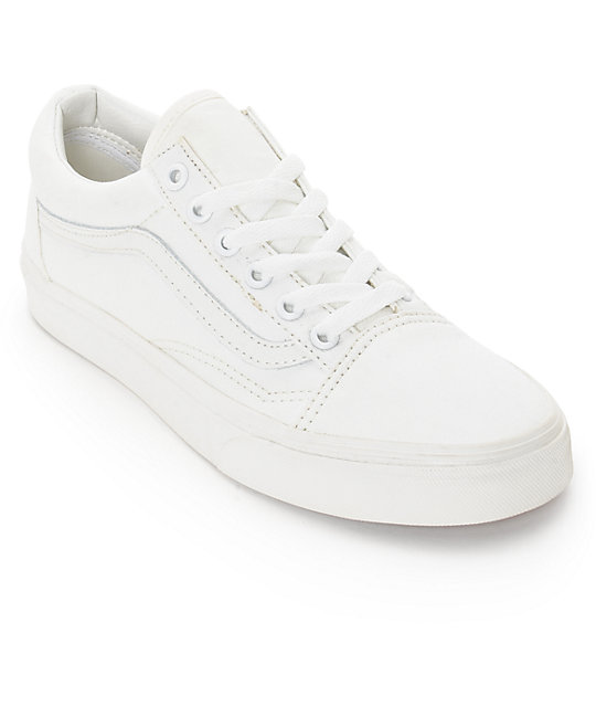 4b7fe0295b Vans Old Skool Blanc De Blanc Shoes