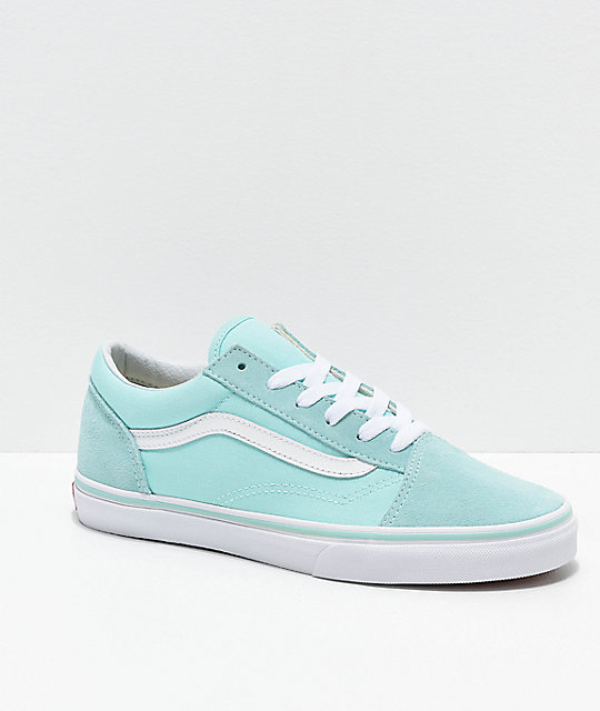 f47ddd63ce Vans Old Skool Blue Tint Skate Shoes