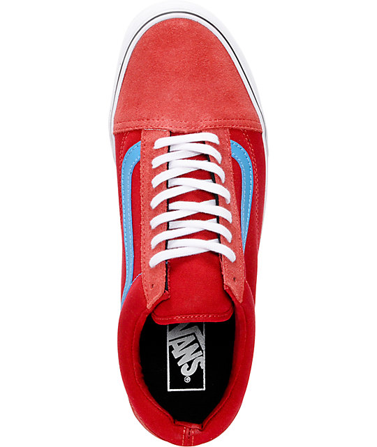 Vans Old Skool Chili Pepper & Methyl Blue Skate Shoes