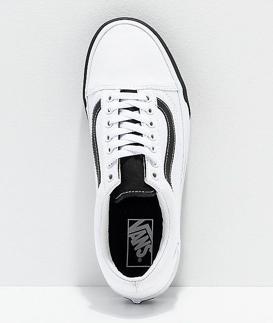 50e1d022492 ... Vans Old Skool Color Block Black   White Skate Shoes ...
