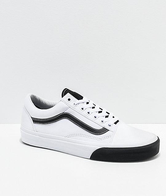 ff6fd6178a Vans Old Skool Color Block Black   White Skate Shoes
