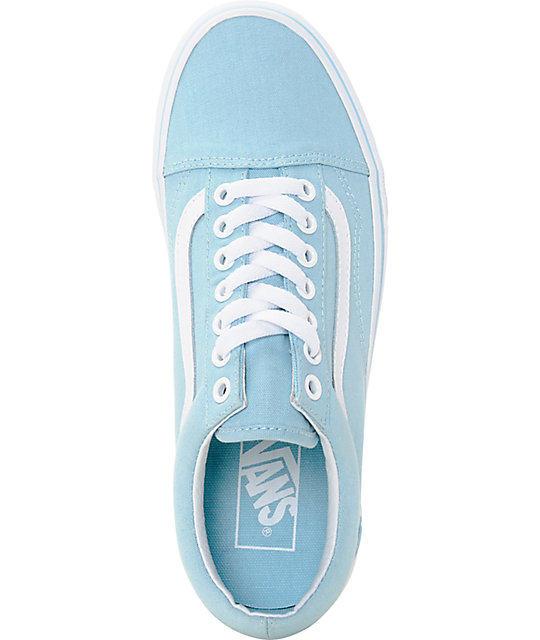 ... Vans Old Skool Crystal Blue   White Canvas Shoes ... c1b7da452108