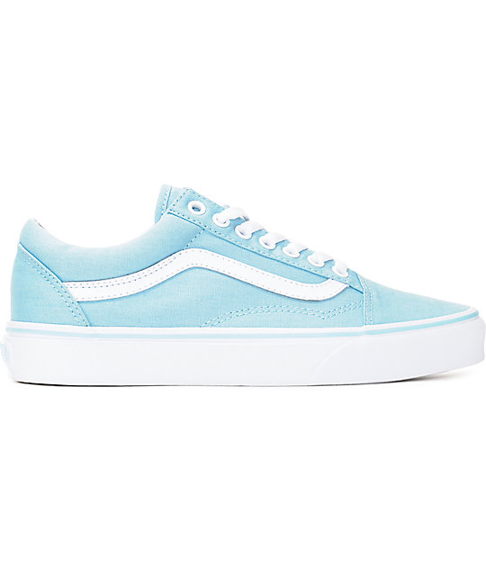 232d781f5f7 ... Vans Old Skool Crystal Blue   White Canvas Shoes ...