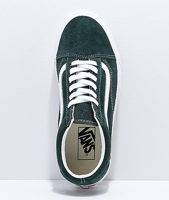 ... Vans Old Skool Dark Spruce Suede Skate Shoes ... f550fd817