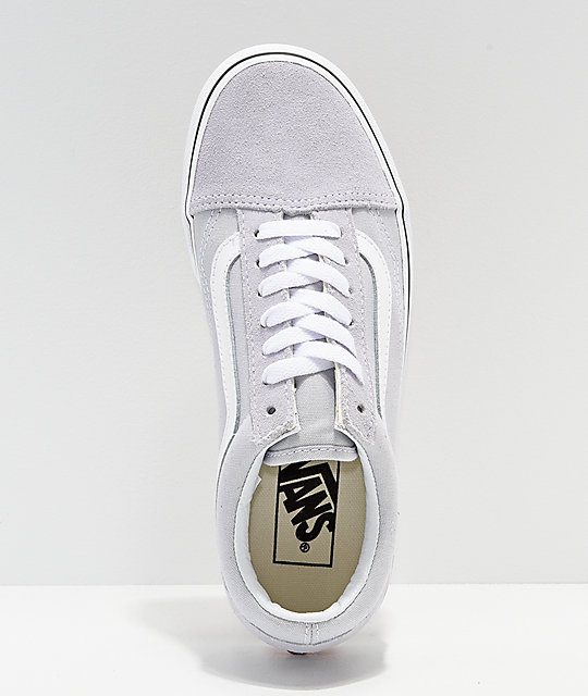 Vans Old Skool Dawn zapatos de skate en gris y blanco