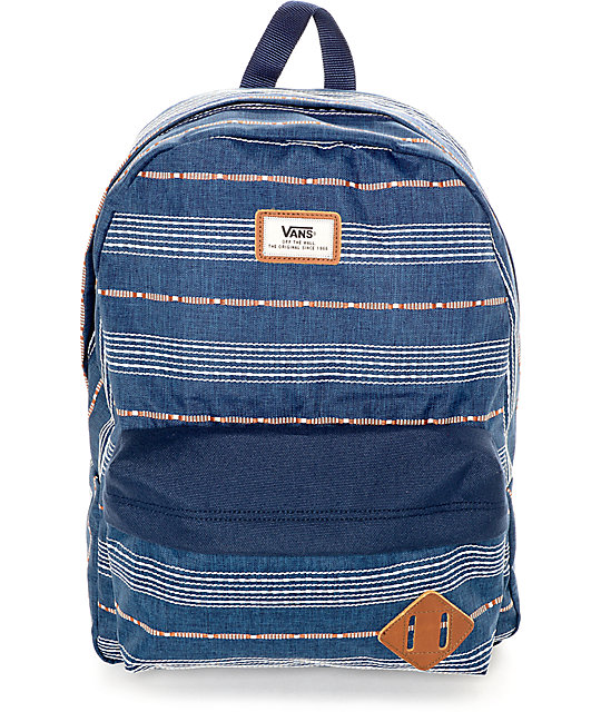 Vans Old Skool Dress Blue 22L Backpack  a7bf285d1