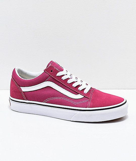 e00a807b8fe0a5 Vans Old Skool Dry Rose   White Skate Shoes