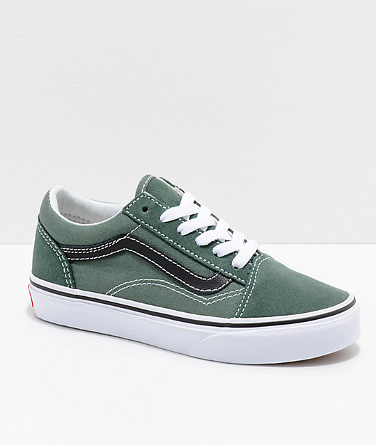 f33c982fda Vans Old Skool Duck Green & Black Shoes | Zumiez.ca