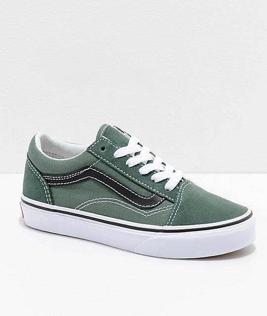 kosten charm amazon neuartiges Design Vans Old Skool Duck Green & Black Shoes