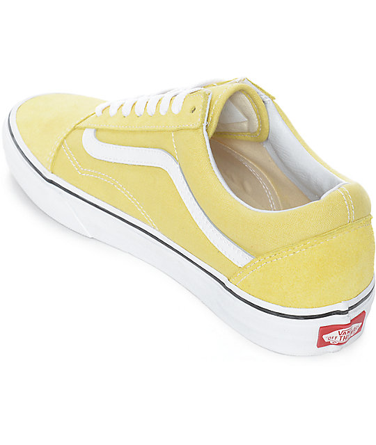Vans Old Skool Dusty City Yellow & White Skate Shoes
