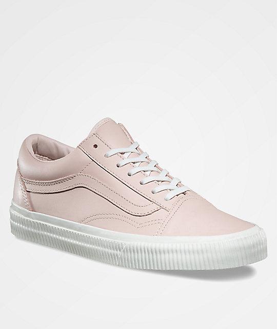 9cb2e7a09d8 Vans Old Skool Embossed Sepia Rose   Blanc Shoes