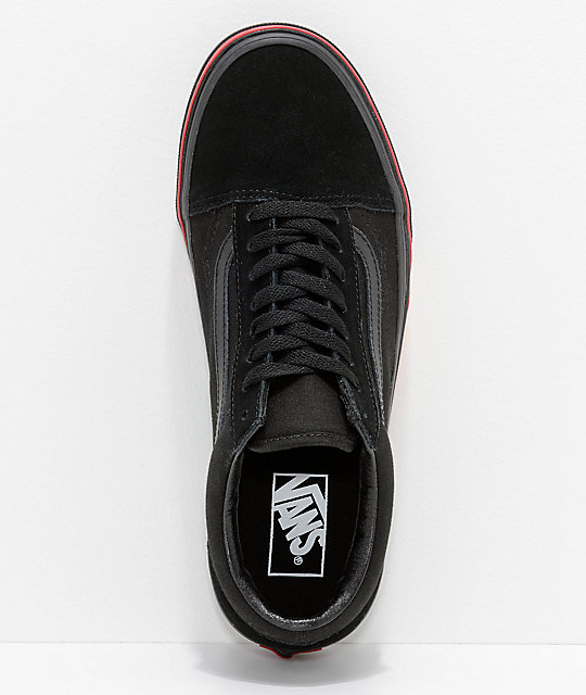 Vans Old Skool Flame Wall zapatos negros
