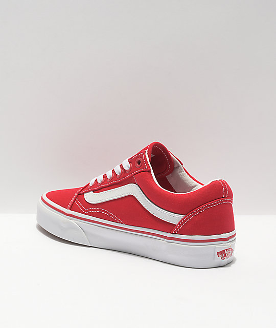 bajo precio 19bf5 817e6 Vans Old Skool Formula Red & White Canvas Skate Shoes