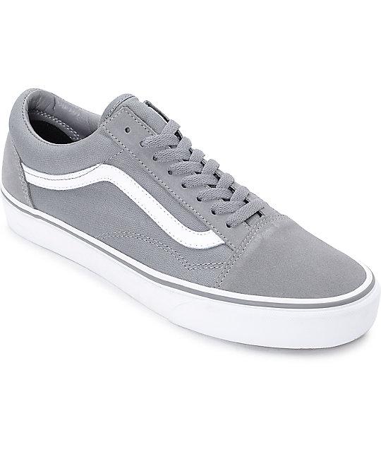 8ecd684a Vans Old Skool Frost Grey & True White Skate Shoes