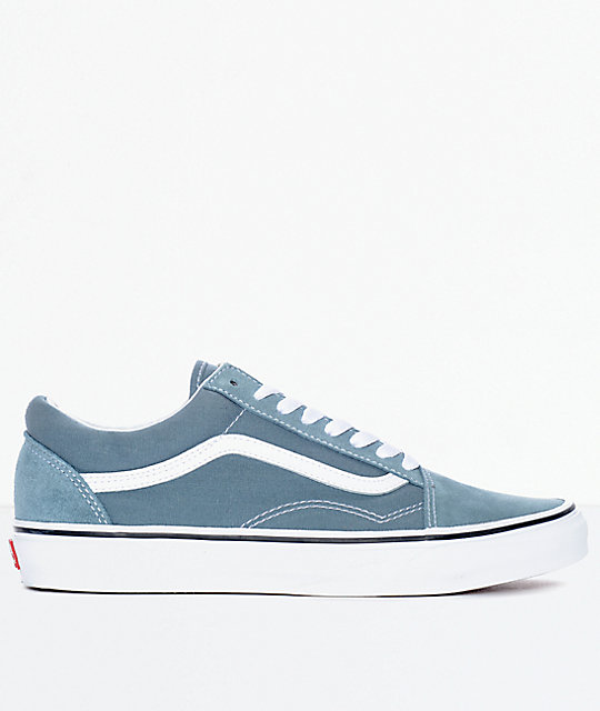 dd24d2321bb0 ... Vans Old Skool Goblin Blue   White Skate Shoes