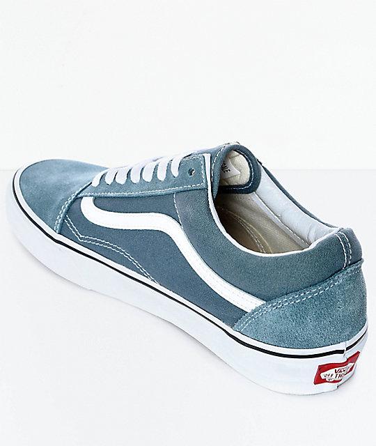 37ca267adc4 ... Vans Old Skool Goblin Blue   White Skate Shoes ...