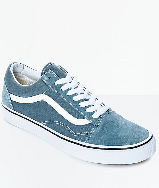 Vans Old Skool Goblin Blue & White Skate Shoes ...