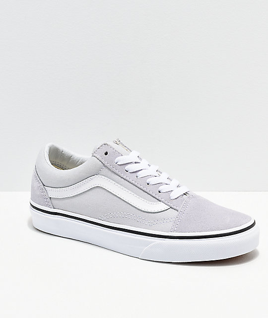 Vans Old Skool Gray, Dawn & White Shoes