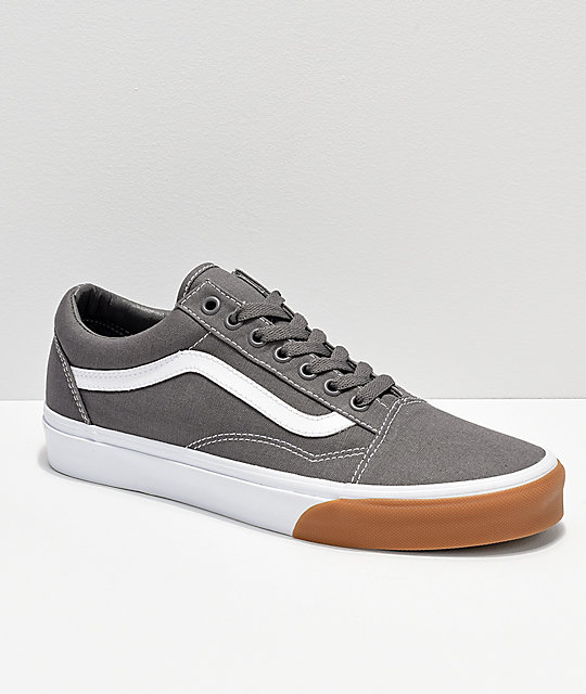 Vans old skool grey white gum bumper skate shoes zumiez jpg 540x640 Vans  gum bumper old 267652dc0e0