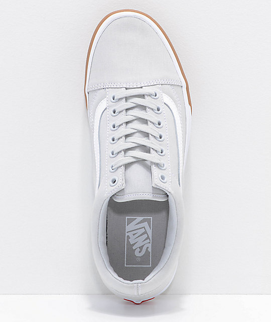 Vans Old Skool Grey & Gum Bump Skate Shoes