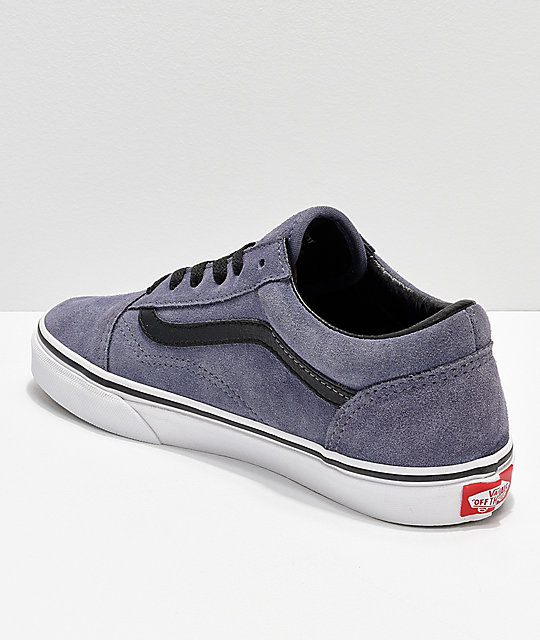 Vans Old Skool Grisaille Grey & White Suede Skate Shoes