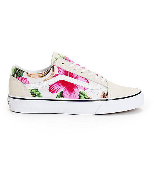 4961161638 ... Vans Old Skool Hawaiian Floral Shoes