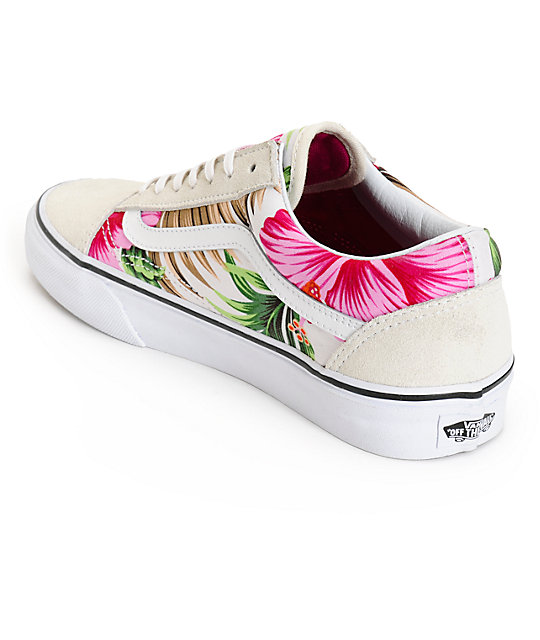 d8f8a4aa8366c5 ... Vans Old Skool Hawaiian Floral Shoes ...