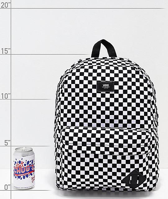 f40e0e1493 ... Vans Old Skool II Black   White Checkerboard Backpack