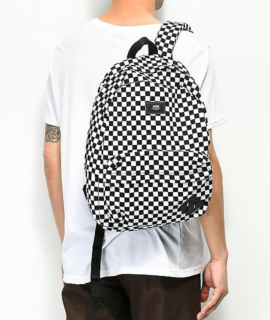 60d038b005c8 ... Vans Old Skool II Black   White Checkerboard Backpack ...