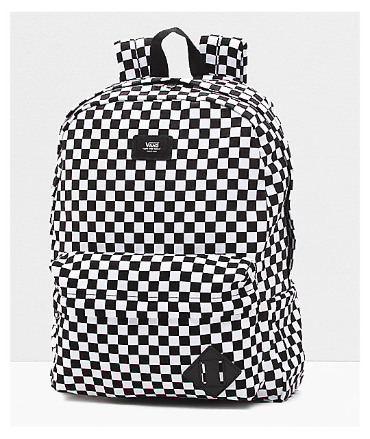 d4de478d4df Vans Old Skool II Black & White Checkerboard Backpack | Zumiez
