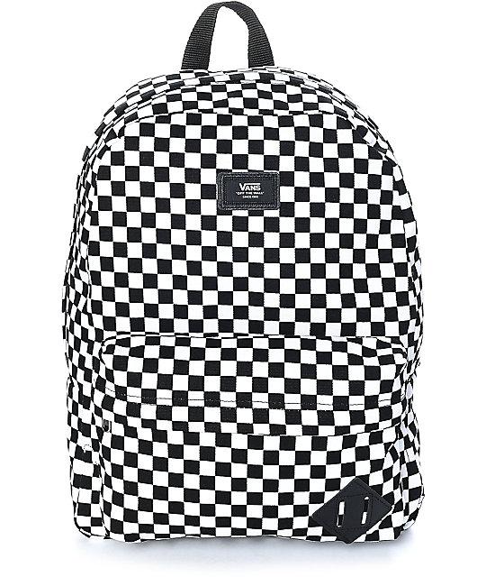 Vans Old Skool Checkerboard Backpack Black White