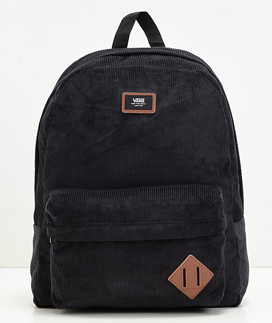 Vans Old Skool II Black Corduroy Backpack
