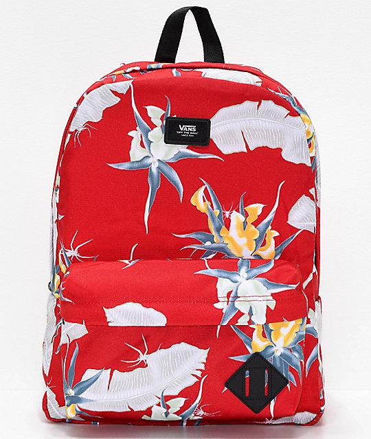 6921835ee1 Vans Old Skool II Racing Red Print Backpack