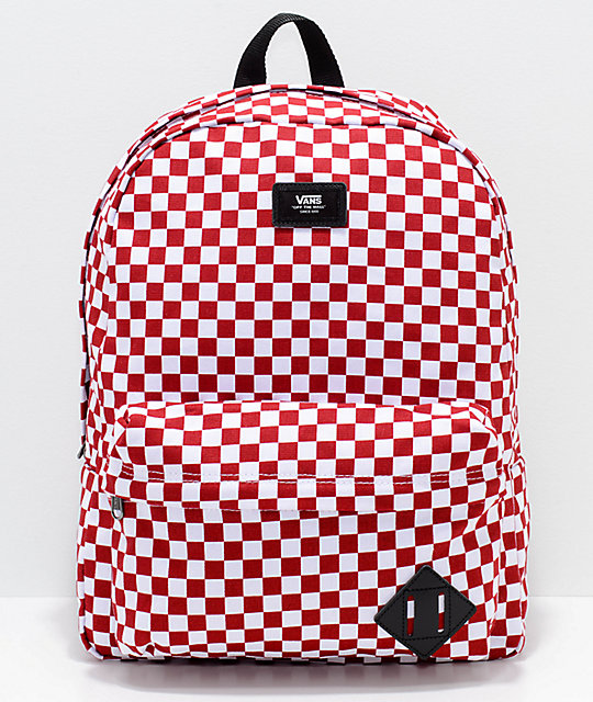 1506710877 Vans Old Skool II Red   White 22L Backpack