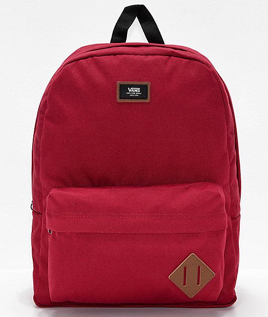 3685dc27bd Vans Old Skool II Red Backpack